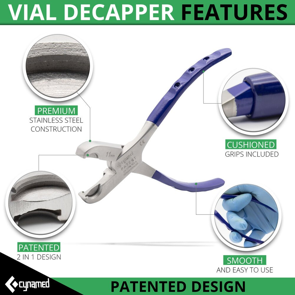 Twin Action Vial Decapper Pliers